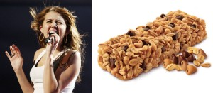One of these is full of nuts. The other is a granola bar.